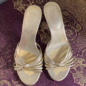 Coach Open Toe Slide Sandals Size 8.5